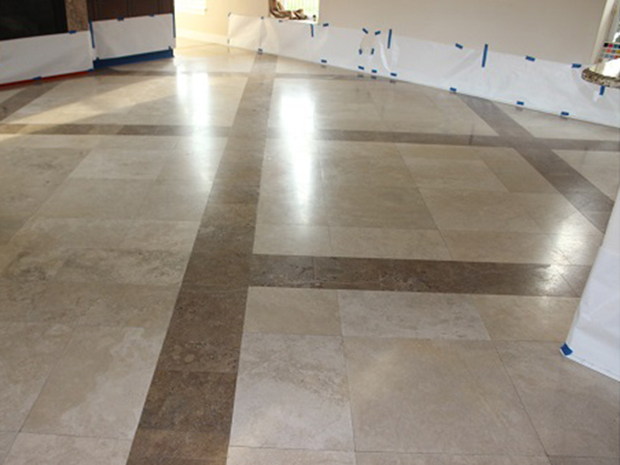 Oldsmar Florida Travertine Before