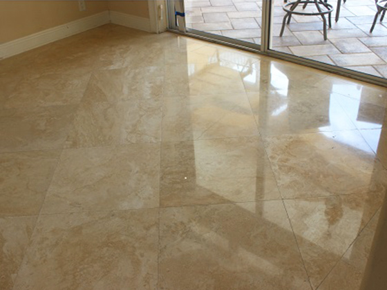 Oldsmar Florida Travertine Refinishing