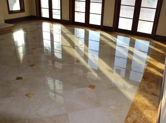 New Construction Marble Damage Repaired
